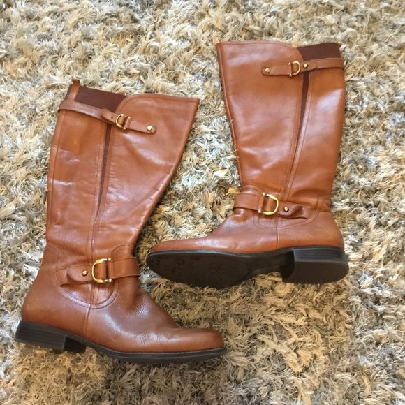 NATURALIZER LEATHER BOOTS SIZE 11WW